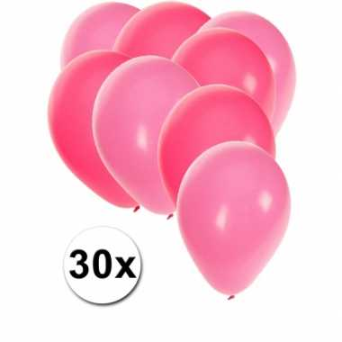 30x ballonnen roze en lichtroze