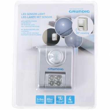 4x led nachtlampje/ganglicht met sensor