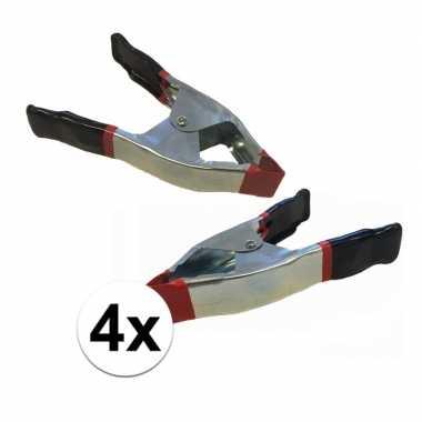 4x lijmklemmen / marktklemmen 15 cm