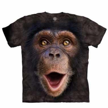 Aap t-shirt chimpansee jong voor volwassenen