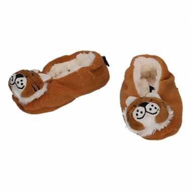 Baby dieren pantoffels/slofjes tijger