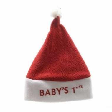 Baby kerstmuts babys 1ste/eerste kerst