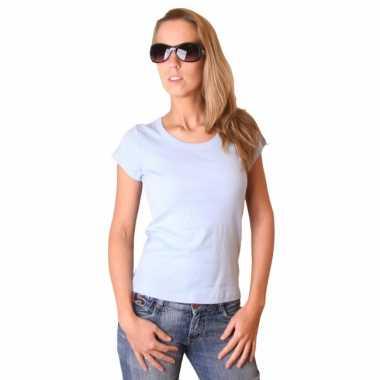 Babyblauw dames t-shirt bella
