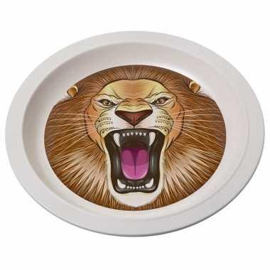 Bamboe ontbijtbord leeuw voor kinderen 21 cm