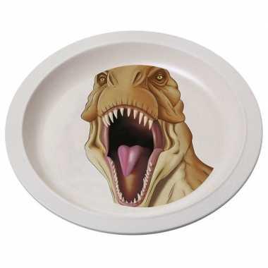 Bamboe ontbijtbord t-rex voor kinderen 21 cm