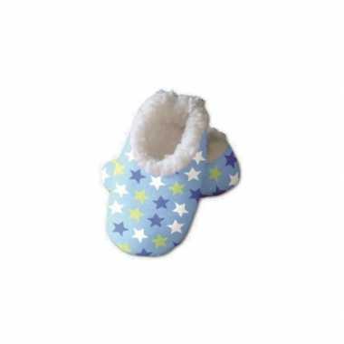 Blauwe baby sloffen sterren