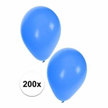 Blauwe ballonnen 200 stuks