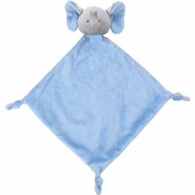 Blauwe olifant tuttel/knuffeldoekje 40 cm