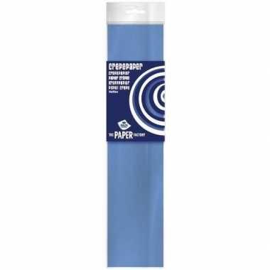 Crepe papier plat babyblauw 250 x 50 cm knutsel materiaal