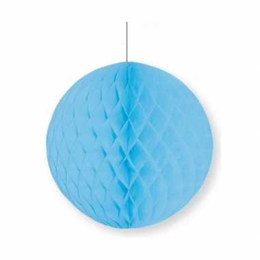 Decoratie bol lichtblauw 10 cm