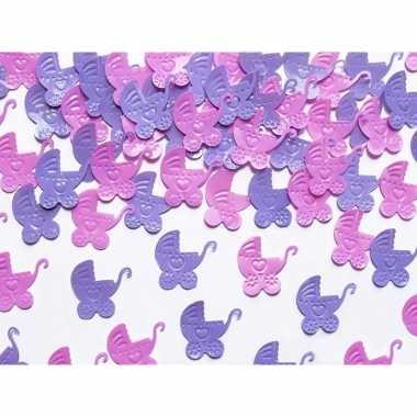 Decoratie confetti kinderwagentjes 15 gram