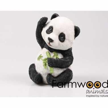 Decoratiebeeld baby panda 22 cm