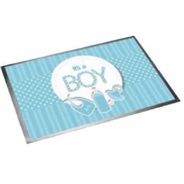 Deurmat/buitenmat geboorte jongen 40 x 60 cm