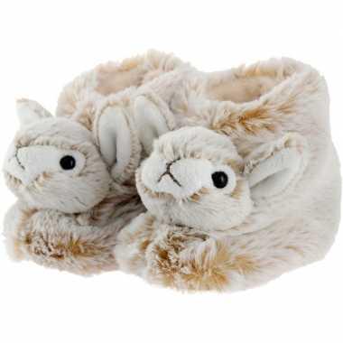 Dieren konijn/haas baby sloffen/pantoffels voor kinderen