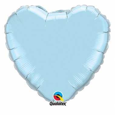 Folie ballon lichtblauw hart 45 cm