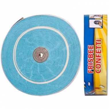 Frisbee werpconfetti lichtblauw 2 stuks