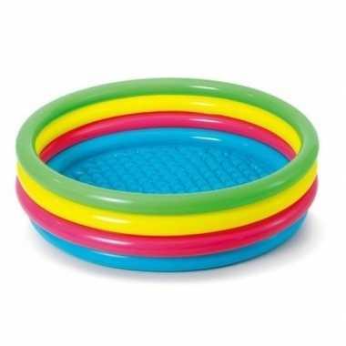 Gekleurd rond opblaasbaar zwembad 150 cm voor kinderen