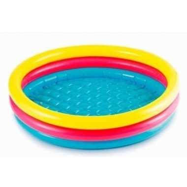 Gekleurd rond opblaasbaar zwembad klein 61 cm baby/kinderen