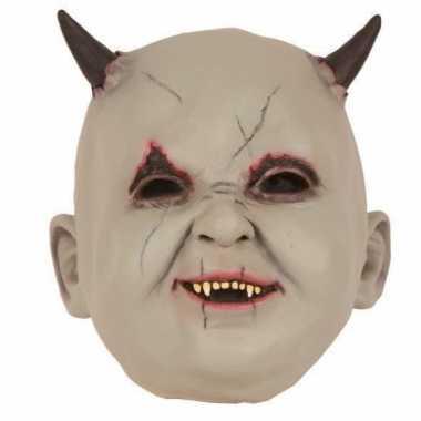 Halloween - latex horror masker baby duivel