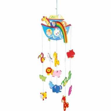 Hangdecoratie mobiel ark van noach voor jongens