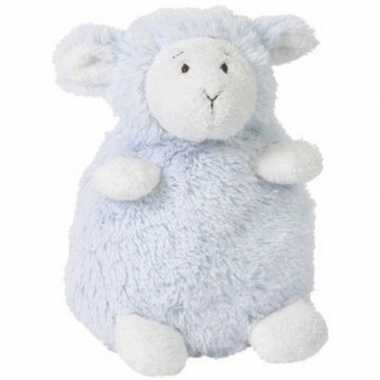 Happy horse blauw zittend pluche lammetje knuffel 26 cm