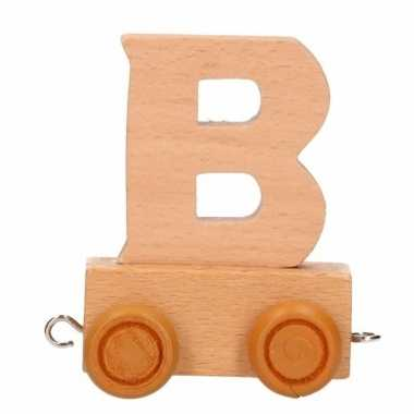 Houten letter trein b
