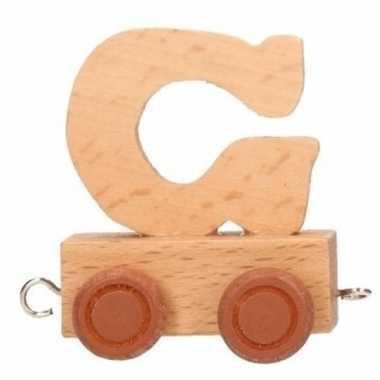 Houten letter trein g