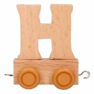Houten letter trein h