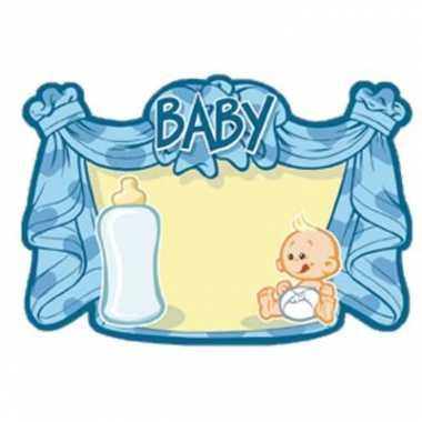 Huldebord blauw baby