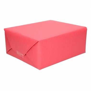 Inpakpapier kraft rood 200 x 70 cm op rol