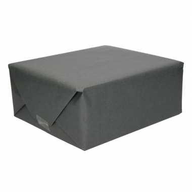 Inpakpapier kraft zwart 200 x 70 cm op rol