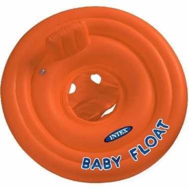 Intex baby zwemband oranje met zitje 76 cm