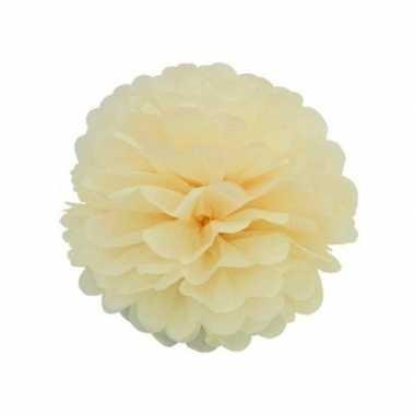 Ivoor decoratie pompom 35 cm