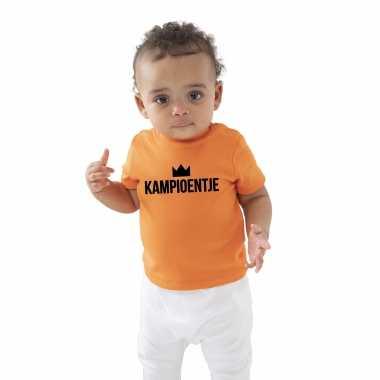 Kampioentje fan shirt voor babys holland / nederland / ek / wk supporter