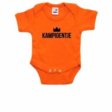 Kampioentje romper voor babys holland / nederland / ek / wk supporter