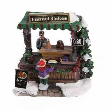 Kersthuisje cake en taartjes kraam