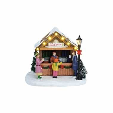 Kersthuisje gluhwein kraampje