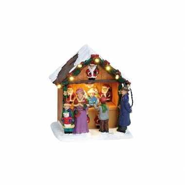 Kersthuisje kerstman kraampje