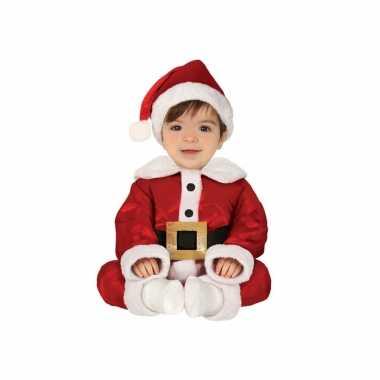 Kerstman baby verkleed kostuum 3-delig