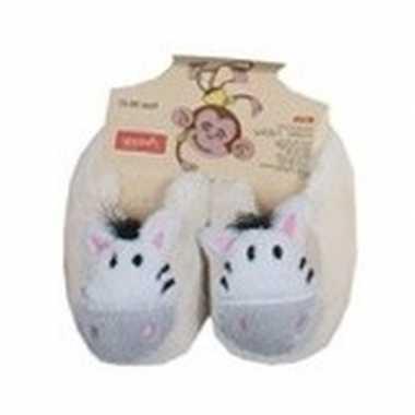Kinder dieren pantoffels/slofjes zebra