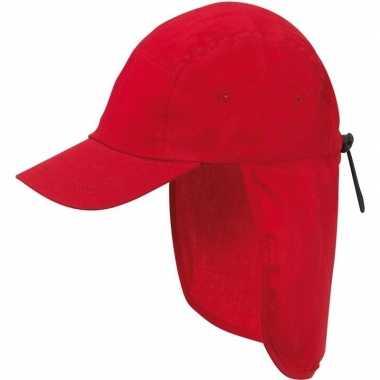 Kindercap rood met nek bescherming