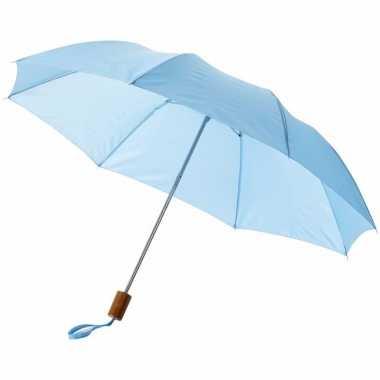 Kleine paraplu lichtblauw 93 cm