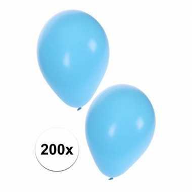 Lichtblauwe ballonnen 200 stuks