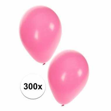 Lichtroze ballonnen 300 stuks