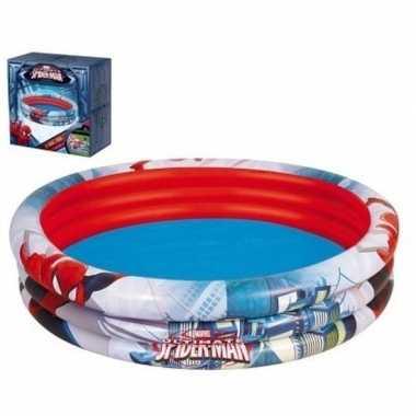 Marvel spiderman rond opblaasbaar zwembad 152 cm baby/kinderen