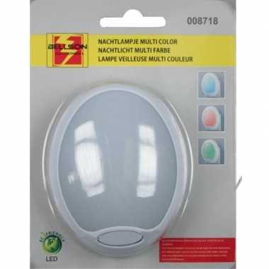 Nachtlampje stopcontact led rood / blauw / groen