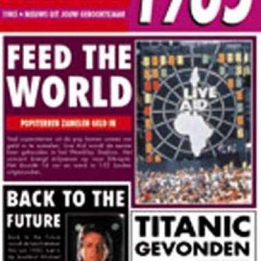 Nieuws kaart uit het jaar 1985