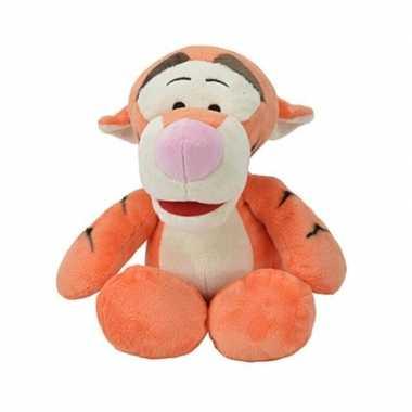 Oranje disney teigetje tijger zachte knuffel 34 cm baby speelgoed