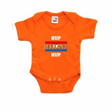 Oranje romper hup holland hup holland / nederland supporter voor babys