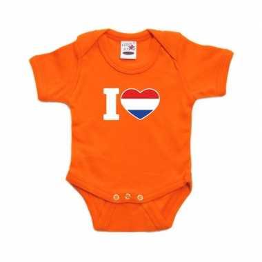 Oranje rompertje i love holland baby